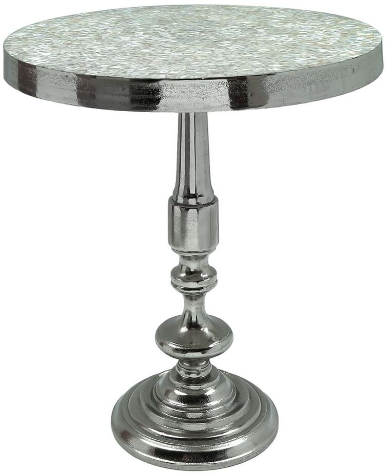 Forest End Table - Mother of Pearl