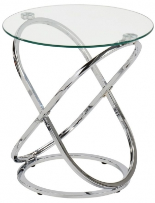 Garland Glass and Chrome End Table