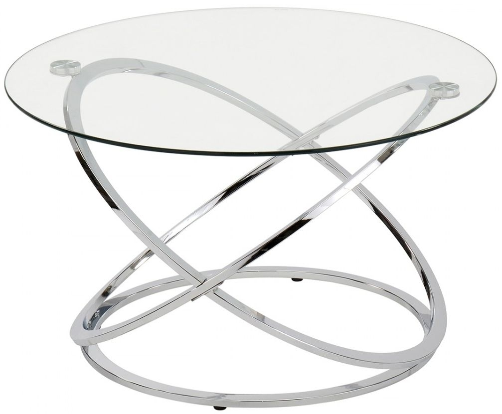Garland Glass and Chrome Coffee Table