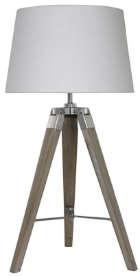 Havana Natural Table Lamp with Ivory Shade