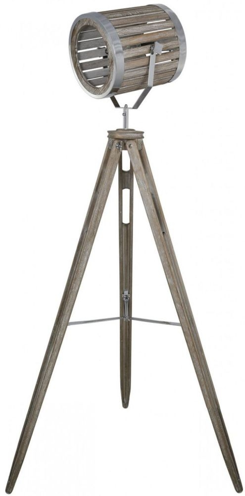 Havana Grey Tripod Wood Photo Floor Lamp