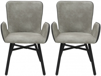 Houma Grey Dining Chair (Pair)