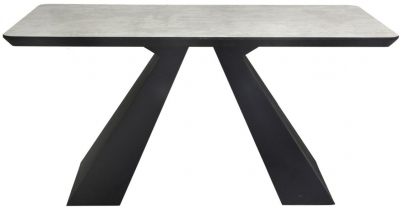 Houma Dining Table - Grey and Black