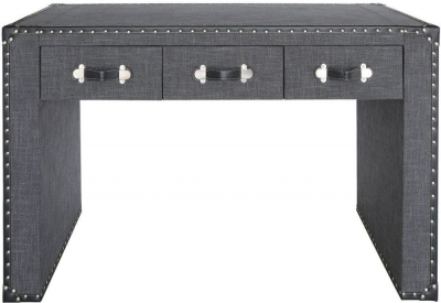 Leece Grey Trunk Style Console Table