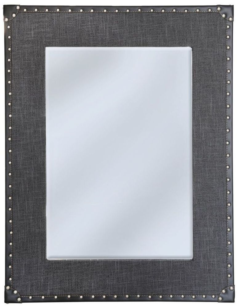 Leece Grey Vintage Wall Mirror