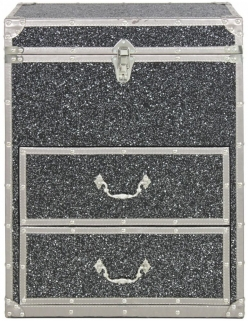 Madison Sparkle Wooden Trunk - 2 Drawer