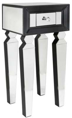 Madison Black Diamond and Clear Mirrored Telephone Table (Set of 2)