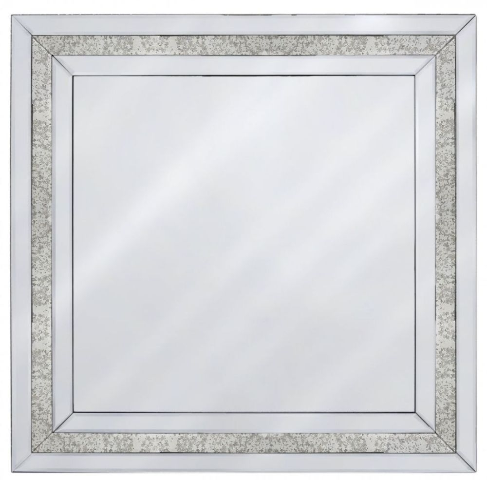 Madison Diamond  Antique and Clear Wall Mirror
