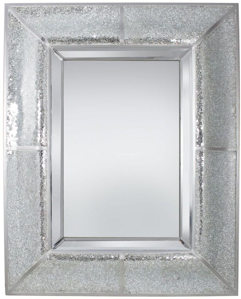 Swinton Silver Sparkle Marino Rectangular Large Mirror