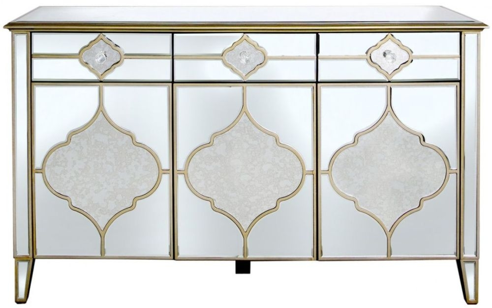 Marrakech Mirrored Sideboard with 3 Drawer and 3 Door