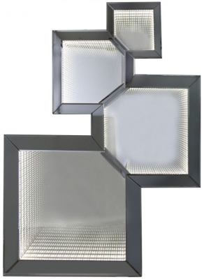 Mirror Infinity Smoked Abstract Wall Mirror - 72cm x 98cm
