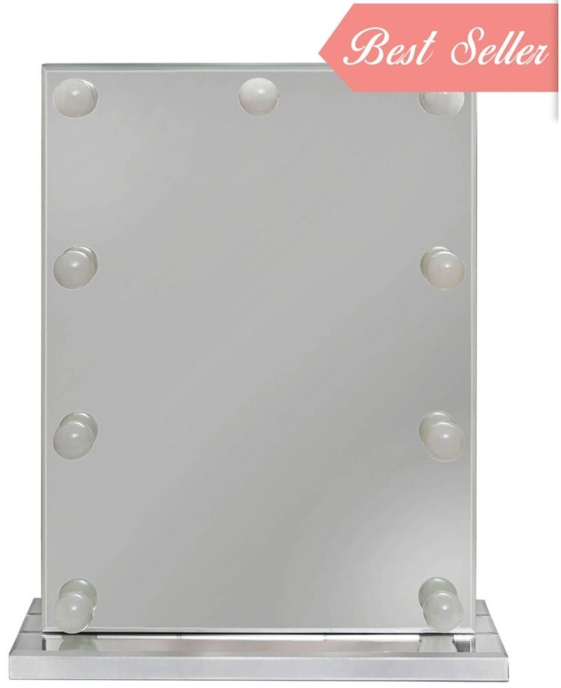 Apex Classic Vanity Rectangular Mirror with 9 Light