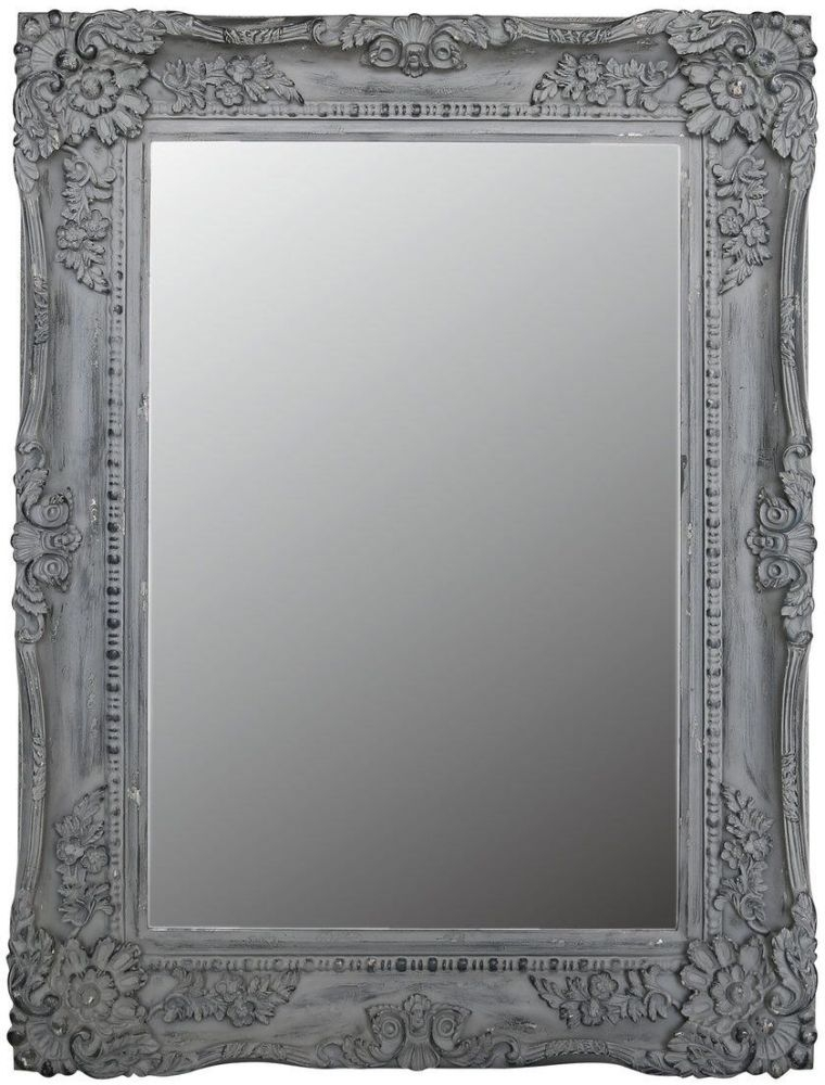 Cheste Grey Rectangular Wall Mirror - 88.5cm x 119cm