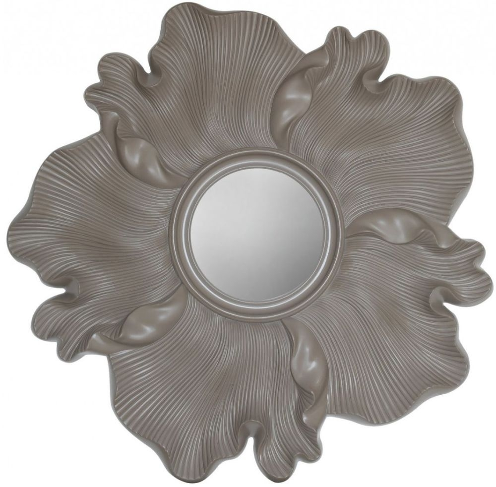 Fermo Light Taupe Flower Sunburst Wall Mirror - 118.5cm x 6.5cm