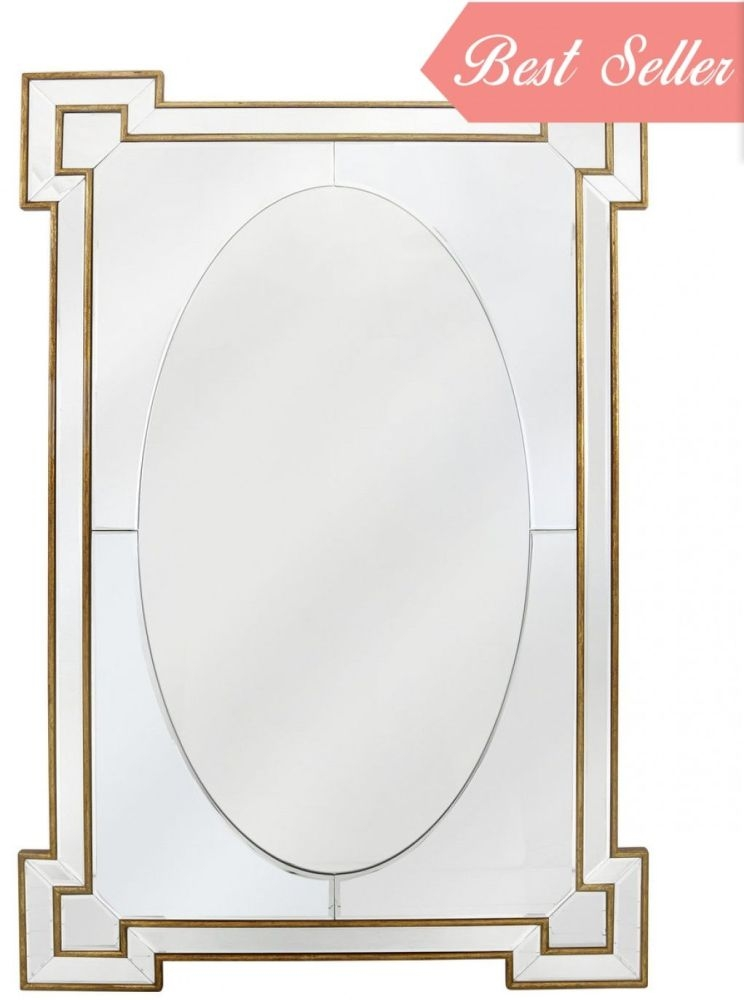 Gold and Silver Wall Mirror - Rectangular