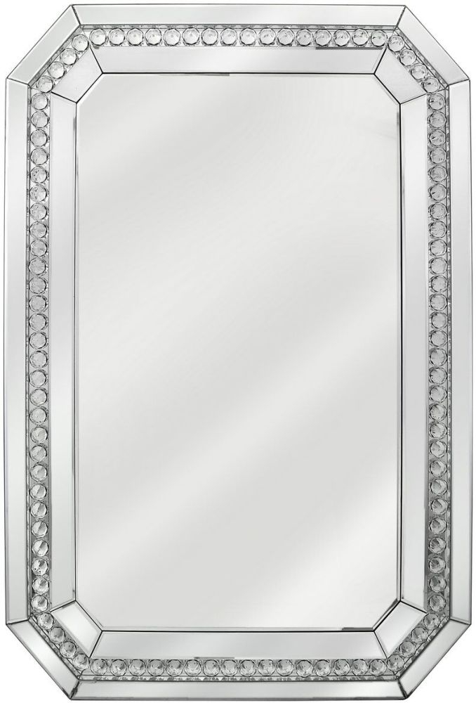 Harkup Crystal Rectangular Wall Mirror - 80cm x 120cm