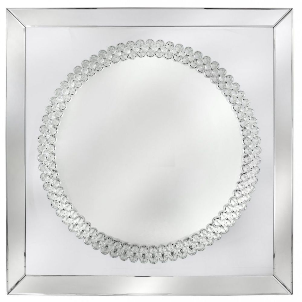 Harkup Crystal Square Wall Mirror - 100cm x 100cm