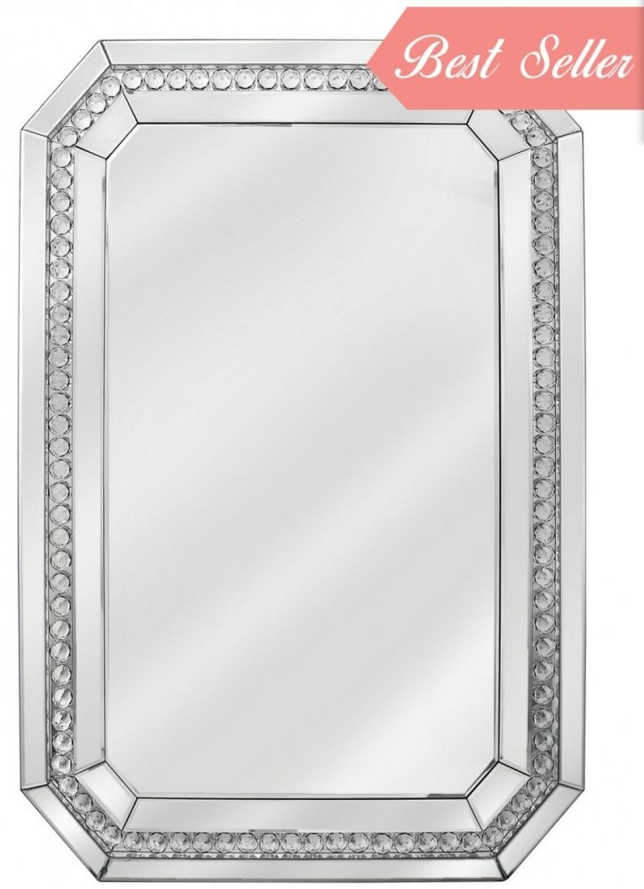 Harkup Crystal Wall Mirror - Rectangular