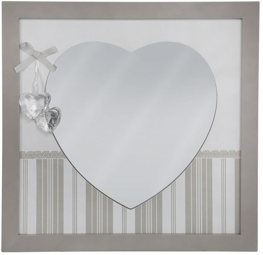 Heart Shape Square Wall Mirror (Set of 4)