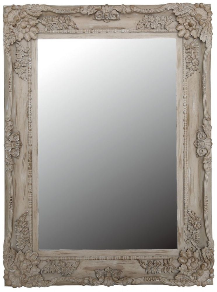 Iris Beige Chateau Rectangular Wall Mirror - 88.5cm x 119cm
