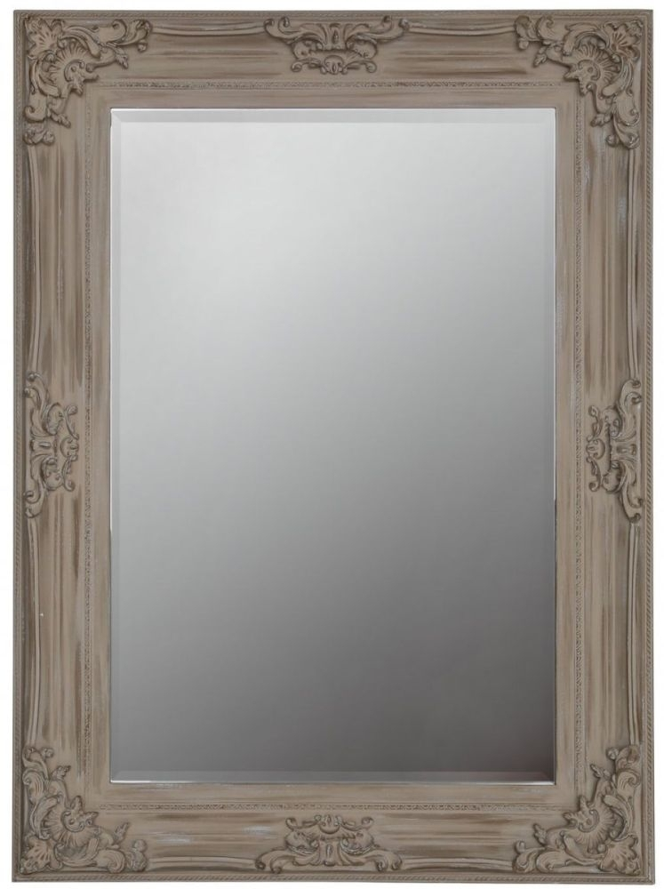 Iris Beige Flower Rectangular Mirror - 78cm x 108cm
