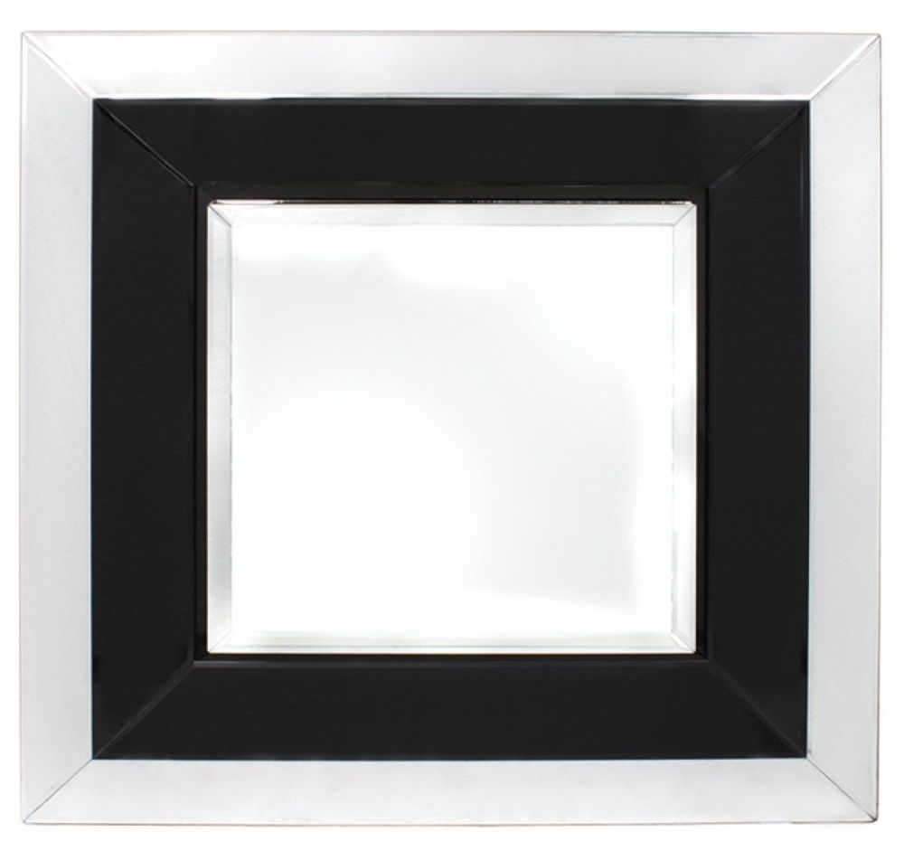 Montague Black Large Wall Mirror