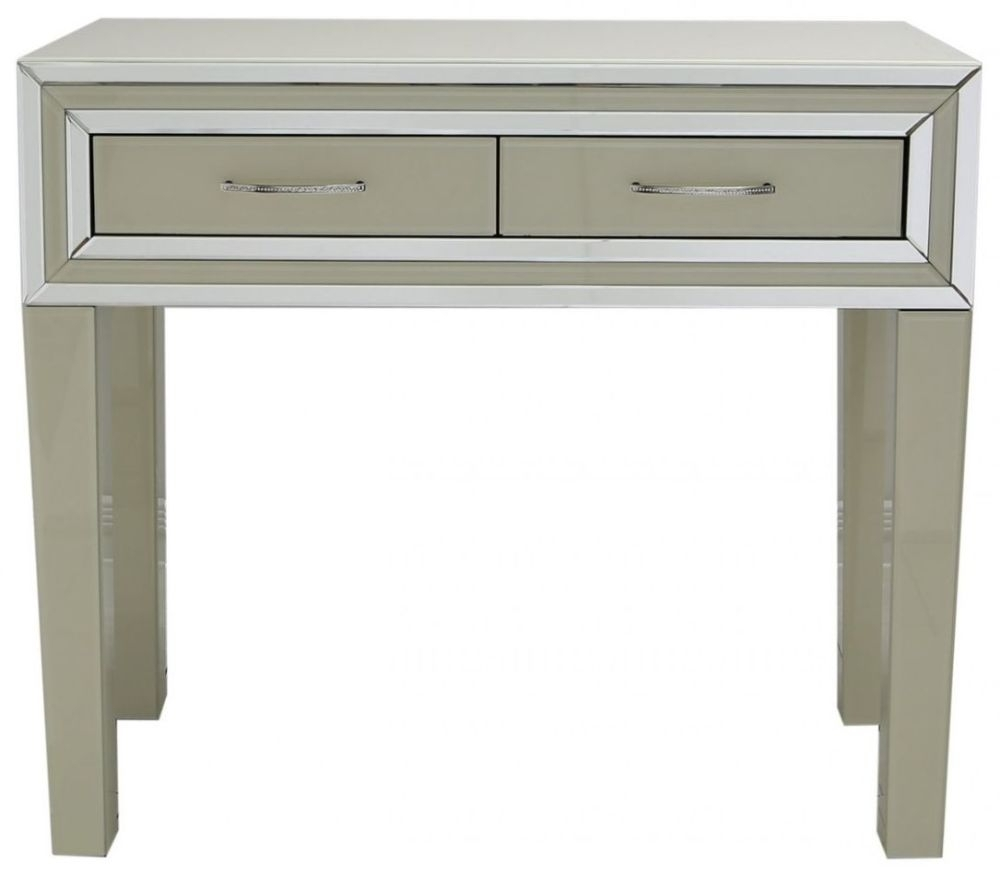 cream console table. montague cream mirrored console table - 2 drawer