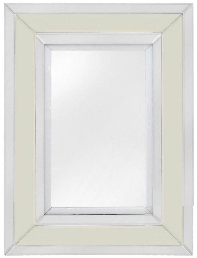 Montague Cream Wall Mirror - Rectangular