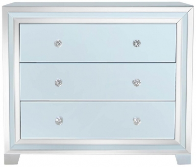 Montague Grey Mirrored 3 Drawer Chest