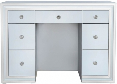 Montague Grey Mirrored Double Pedestal Dressing Table