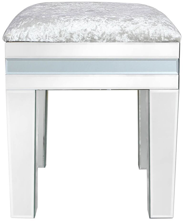 Montague Grey Mirrored Stool