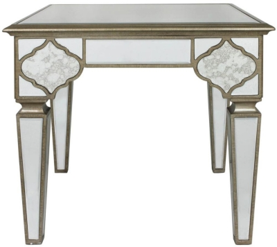 Morocco Mirrored End Table