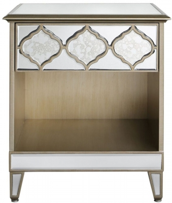 Morocco Mirrored Bedside Cabinet