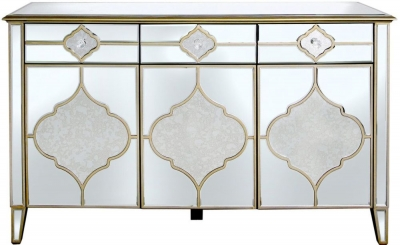 Morocco Mirrored 3 Door 3 Drawer Sideboard