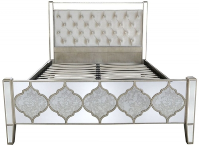 Morocco Mirrored King Size Bed Frame