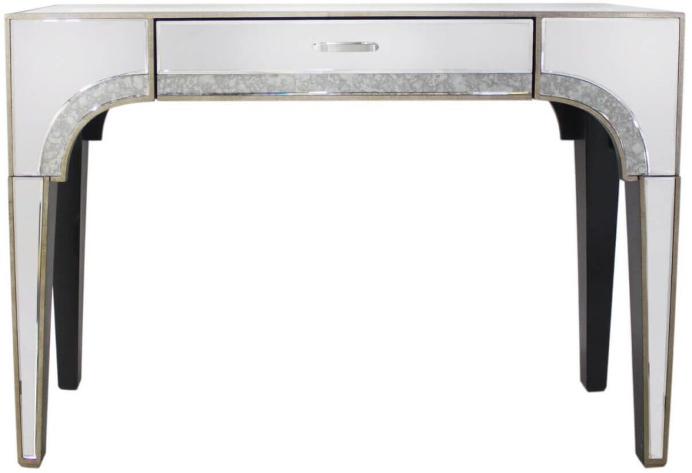 Morocco Mirrored 1 Drawer Console Table