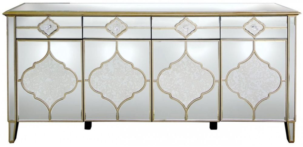Morocco Mirrored Wide Sideboard