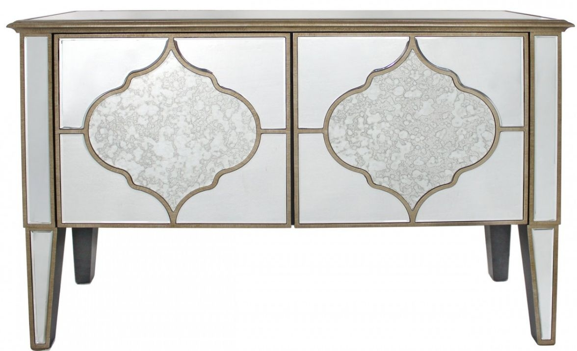 Morocco Antique Mirrored 2 Door Cabinet