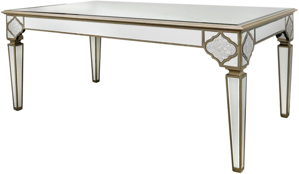 Morocco Mirrored Rectangular Dining Table - 180cm