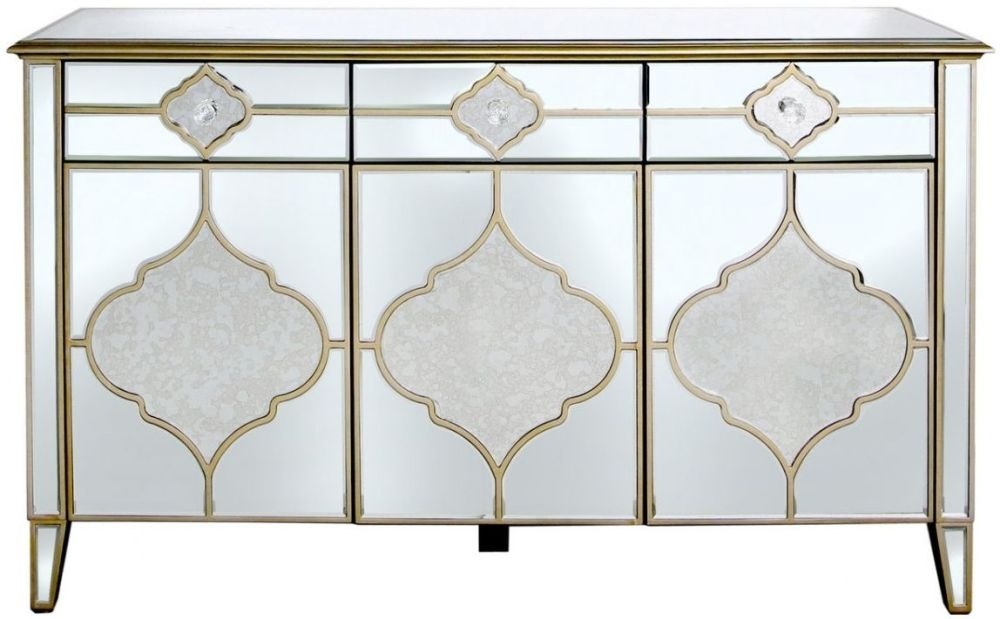 Morocco Mirrored Sideboard - 3 Door 3 Drawer