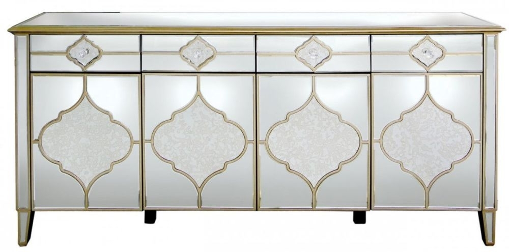 Morocco Mirrored Sideboard - 4 Door 4 Drawer