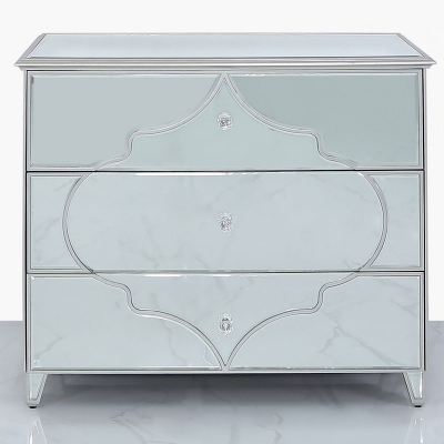 Morocco Silver Mirrored Chest