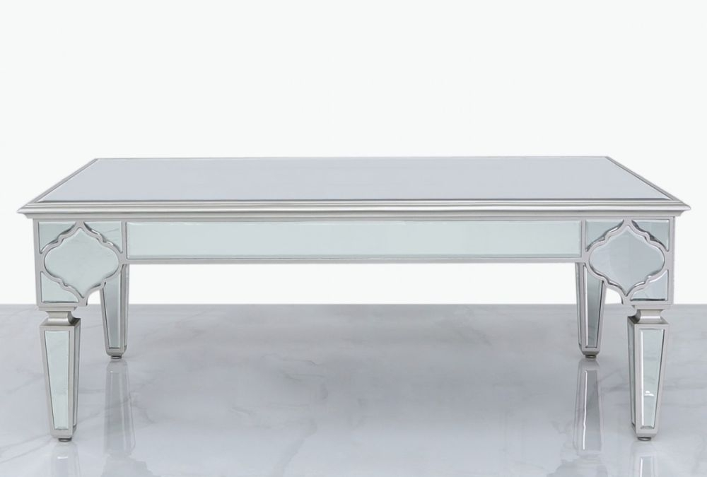 Morocco Silver Mirrored Coffee Table