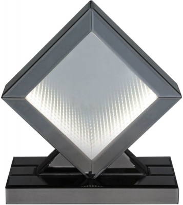 Orbit Smoked Mirrored White LED Diamond Small Table Lamp