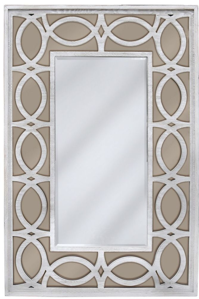 Osimo Washed Ash and Champagne Wall Mirror
