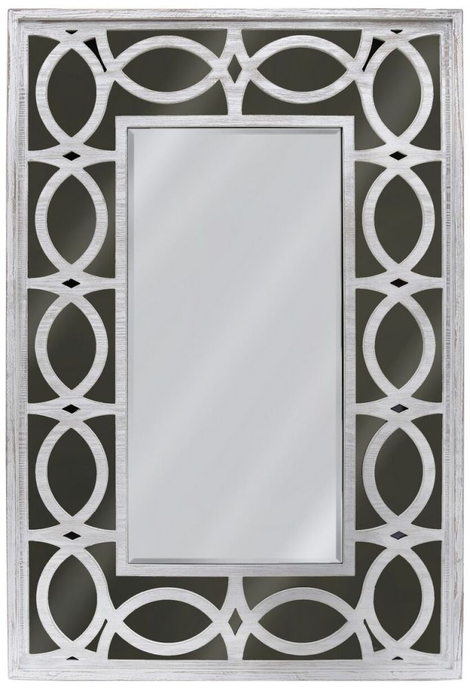 Osimo Rectangular Wall Mirror - 80cm x 120cm Washed Ash and Smoked