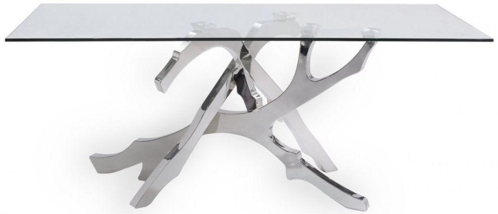 Palermo White Stainless Steel Dining Table