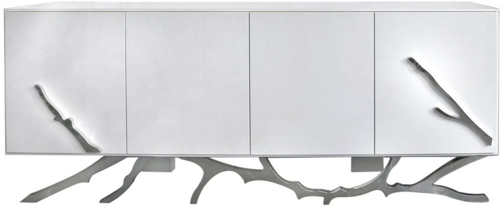 Palermo Sideboard - White and Chrome
