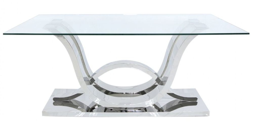 Pineville Dining Table - Glass and Chrome