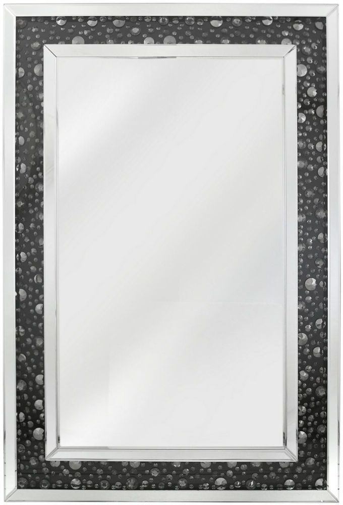 Porto Black Gem Wall Mirror